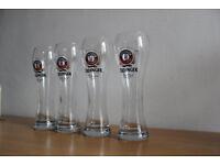 Erdinger Weissbier German Pint Beer Glasses