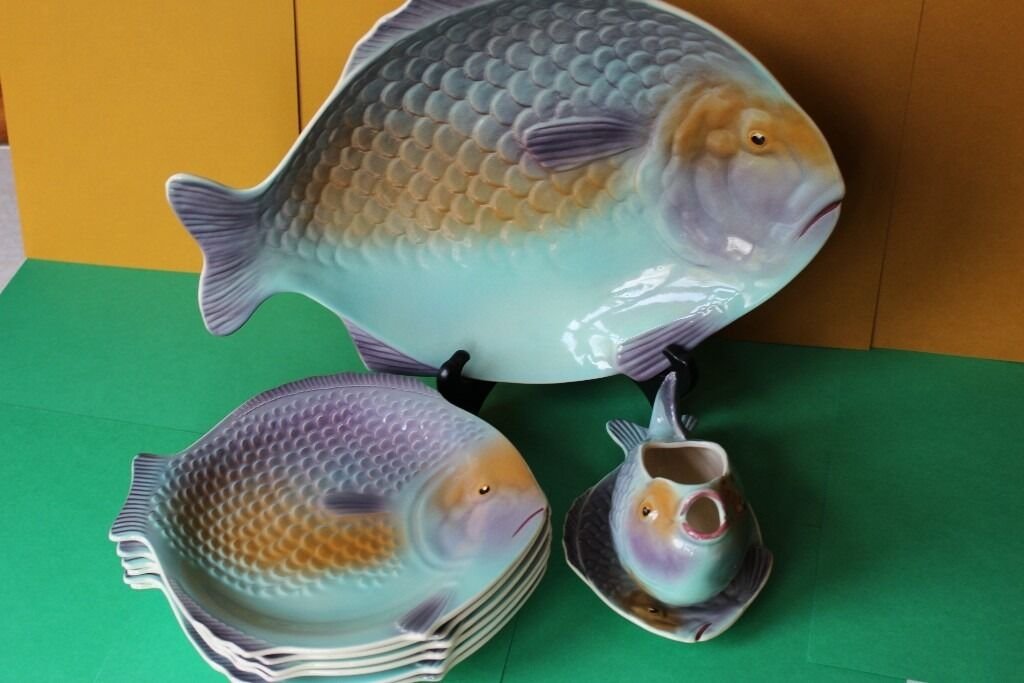 Shorter Amp Son Fish Set 6 Plates Large Platter And Sauce