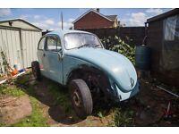 Blue VW Beetle Project For Sale (1971)