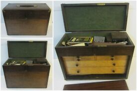 Vintage 6 Drawer Engineers Cabinet with Tools / late 1950's