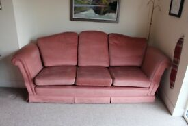 Large sofa and comfy chair
