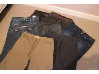 Bundle of branded jeans/crops - size 12 excellent condition
