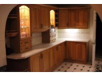 Full Solid Oak Kitchen For Sale Immaculate throughout and includes Range Oven + Extractor Fan