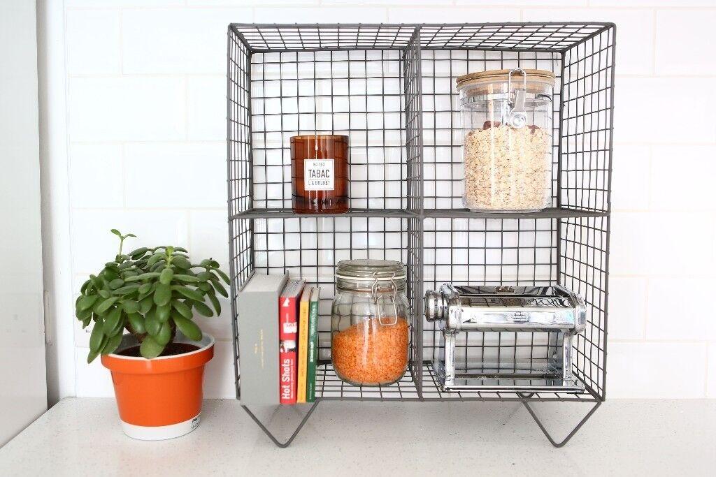Wire frame storage rack (kitchen / bedroom / living room ...