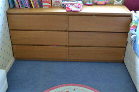 ikea chest of double drawers