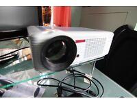 1080P HDMI Projector + Sound bar