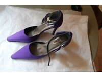 Jasper Conran Purple Satin Shoes – Size 5 / 38