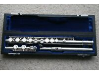 Mateki Flute with solid silver headjoint