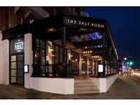 Experienced Part Time / Full time Waiting staff for the Salt Room restaurant, Brighton