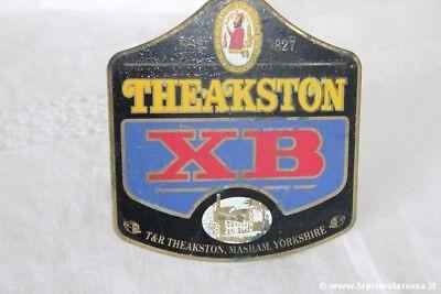 VINTAGE THEAKSTON XB ALE BAR BEER METAL CLIP PUMP - DISTINTIVO VINTAGE DA PUB