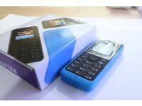 NOKIA 105 MOBILE PHONE BLUE UNLOCKED SIMFREE BOXED SINGLE SIM