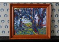 Original oil painting 'Trees' by David Hawkins - Royal Academy Summer Exhibition 1989