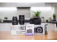 Canon 7D DLSR Bundle with 2x Canon Professional Zoom Lenses (10-22mm f/3.5-4.5 & 17-55mm f/2.8)