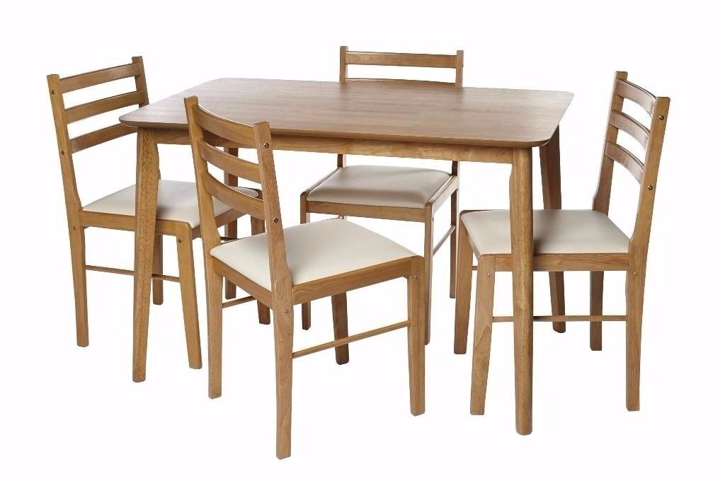 Brand new 5 Piece dining wooden table 4 chairs set Oak/White TWO COLOURS AVILABLE