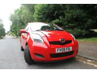 2009 TOYOTA YARIS - RED 998cc MANUAL-long MOT