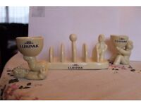 Exclusive Lurpack Egg Cups and Toast Rack £5)