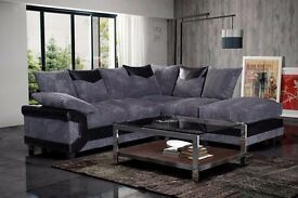 JUMBO CORD CORNER SOFA == BRAND NEW == 3 AND 2 SEATER = SAME DAY DELIVER