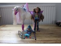 Bratz Fashion Pixiez Package ( with horse and swing seat).