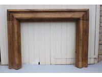 Antique Pine Bolection Fireplace Surround Chimney Piece