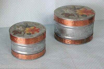DUE SCATOLE VINTAGE IN LATTA - TWO TIN BOXES