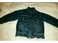 Next fleece lined denim jacket age 2 - 3 years