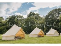 3m Deluxe Bell Tent with sewn in ground sheet - Good condition ex-rental (Four available!)