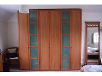 Large Cherry Wood Wardrobe