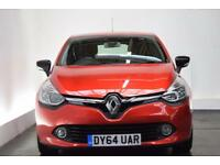 RENAULT CLIO 1.5 DYNAMIQUE S MEDIANAV ENERGY DCI S/S 5d 90 BHP (red) 2014