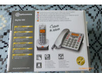 Amplicomms BigTel 480 Big Button Amplified Cordless DECT and Corded Telephone