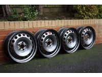 "16"" 6.5J 5x100 VW/ Audi/ SEAT/ Skoda Steel Wheels x4"