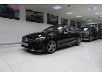 MERCEDES-BENZ C CLASS 2.1 C220 CDI BlueTEC AMG Line (Premium) 7G-Tronic Plus 4dr Auto (black) 2014