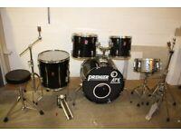 Vintage 1990s Premier APK Black 5 Piece Full Drum Kit (22in Bass) + Sabian Cymbals - £425 ono