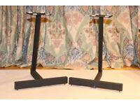 Speaker stands - pair - 550h, 175 x 150 platform - floor spikes