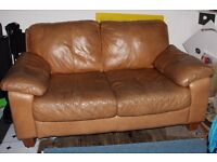 Sofas Brown Leather 2 units