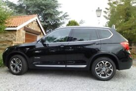 BMW X3 XLine 20d, 2014, Auto, Black, ONLY 12000 miles, 1 lady owner