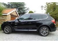 BMW X3 XLine 20d, 2014, Auto, Black, ONLY 12000 miles, 1 lady owner