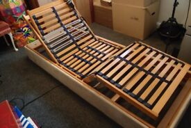 """single bed electric adjustable with mattress 2ft 6"""""""