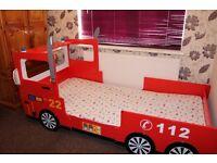 Child's Fire Engine Bed (no matress)