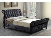 Sleigh bed available with mattress and ottoman box