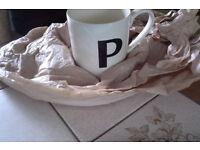 Scrabble mug, letter P. Brand new unused.