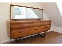 Mid Century Vintage Retro Sideboard / drawers with mirror, Danish style, fantastic condition