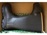 "Brand New Seeland Countrylife Wellingtons 17"" 3.5mm Dark Brown Size 11"