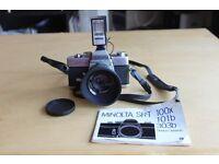 Minolta SR-T 101 Camera with Lens Original Manual