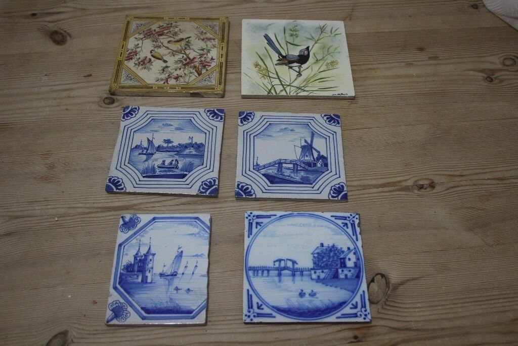 Collection of vintage wall tiles