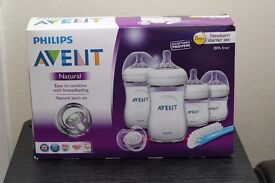 Philips AVENT Natural Bottle Newborn Starter Set Plus: BRAND NEW