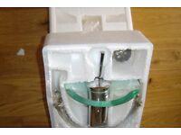 Surf Glass Waterfall Monobloc Basin Mixer Tap