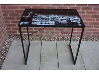 Modern glass black metal frame desk / dressing table / laptop table