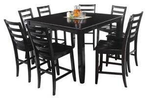 Ryley Nine Piece Dining Set Counter Height In Cappuccino