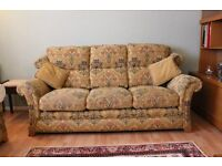 3 Piece suite : One 3 seater sofa and Two armchairs