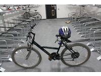 Huffy Blades USA 18 Speed Mountain Bike with Helmet and Lock